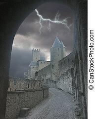 portail, éclair