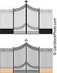portail, église