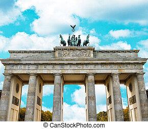 portail, berlin, brandenburg, -, allemagne