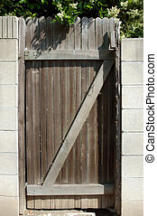 portail, bois