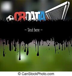 portail, boule football, croatie