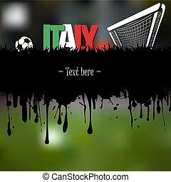 portail, boule football, italie