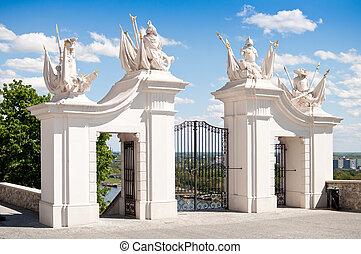 portail, entrée, château, bratislava
