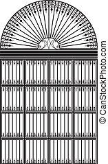 portail, fer forgé