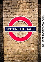 portail, notting, colline
