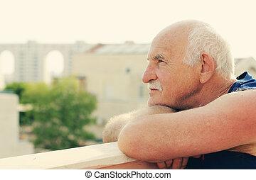 portait of happy senior man
