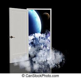 Portal - Door open in the other galaxy