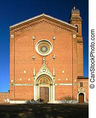 portal of San Francesco is a basilica church in Siena, Italy