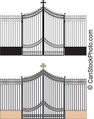 Portal of the church - Vector illustration of an element of...