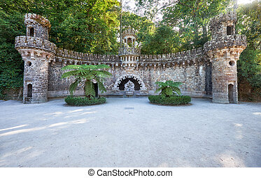 Portal of the Guardians in Quinta da Regaleira estate....