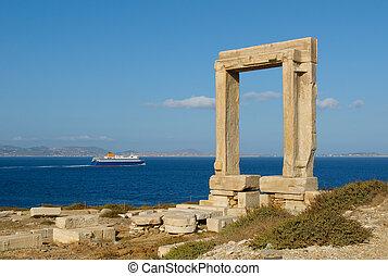 Portara gate, Naxos, Greece