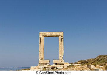 "Portara Naxos, Temple of Apollo - The ""Portara"", the lintel..."