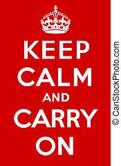 portare, calma, custodire