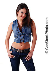 woman in jeans wear