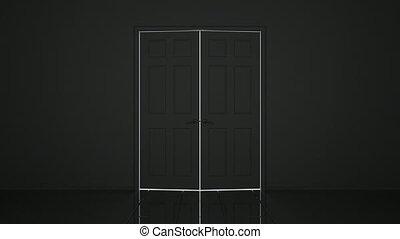 portas, animação 3d
