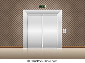 portas elevador, fechado