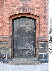 porte, église