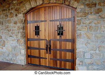 porte, établissement vinicole