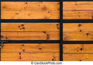 porte, a mûri, vendange, charnières, bois, anti, fer, vieux, grange