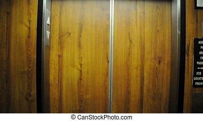 porte, ascenseur, ouverture