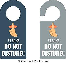 porte, hanger., disturb., signe., calme, garder, vecteur, pas
