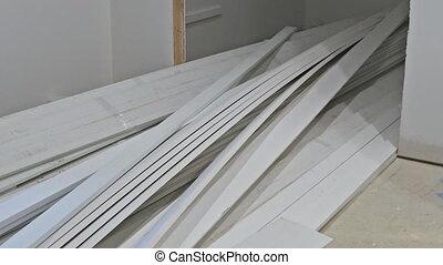 porte, logement, installation, installed, projet, construction, nouveau, intérieur, maison, drywall, avant
