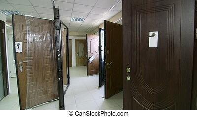 Porte, -, interne, externe, portes, salle exposition,... métrage ...