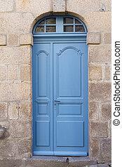 porte, maison, vieux