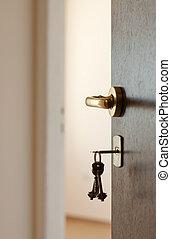 porte ouverte, clés
