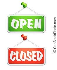 porte ouverte, signes fermés