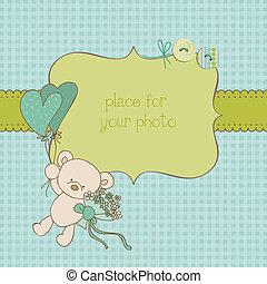 porte-photo, salutation, vecteur, endroit, texte, bébé, ton...