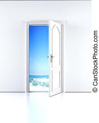 porte, plage