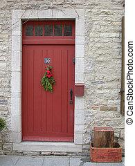 porte, rouges