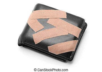 portefeuille, à, monde médical, plâtre