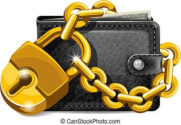 portefeuille, cadenas