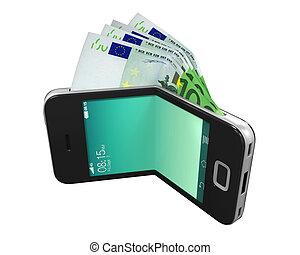 portefeuille, concept, numérique