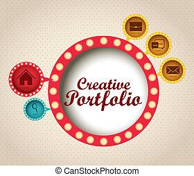 portefeuille, créatif