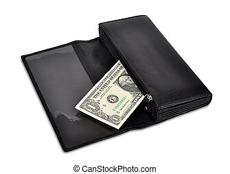 portefeuille, dollar