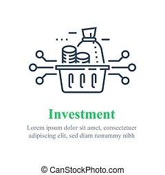 portefeuille, fonds, capital, stratégie investissement, allocation, assurer, économies, diversification
