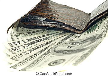 portemonaie, amerikaanse dollars