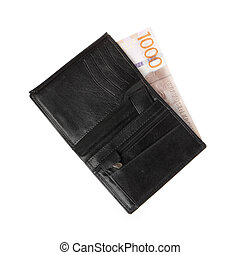 portemonaie, bankbiljet, 1000