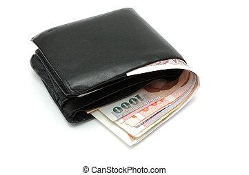 portemonaie, dollars, overstromen