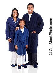 porter, indien, famille, nightclothes