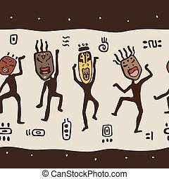 porter, masks., danse calcule, africaine