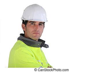 porter, réflecteur, ouvrier construction, veste