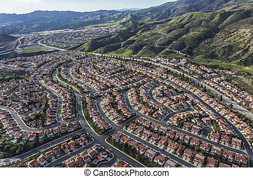 Porter Ranch Aerial View in Los Angeles California