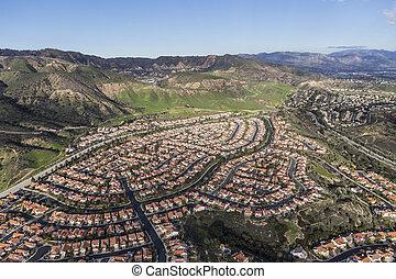 Porter Ranch Los Angeles Aerial
