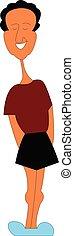porter, short, couleur, illustration, vecteur, noir, regarde, homme, ou, beau