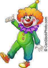 Porter, vert, déguisement,  clown