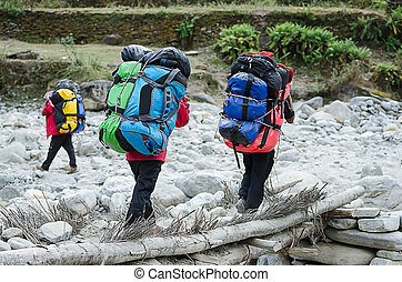 Porters in the Annapurna